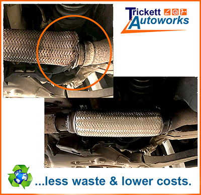 Exhaust repairs - lass waste and at a lower cost.